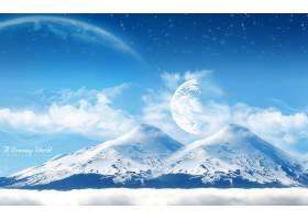 地球,A,轻柔的,世界,山,壁纸,图片