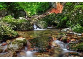 地球,溪流,自然,水,运动,污迹,苔藓,岩石,河,壁纸,图片
