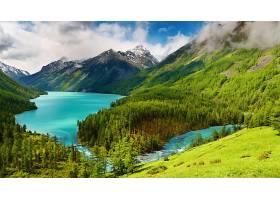 地球,河,风景,湖,自然,森林,山,树,小山,壁纸,图片