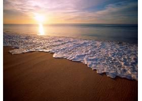 地球,海滩,自然,日落,反射,壁纸,图片
