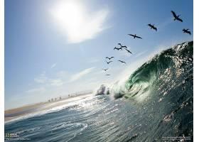 地球,波浪,壁纸,(2)