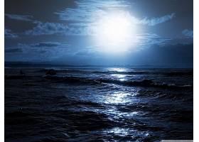地球,波浪,海,夜晚,放松,壁纸,图片