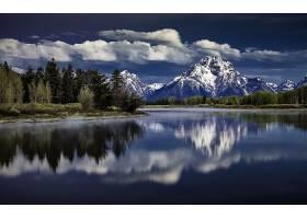 地球,反射,自然,河,森林,山,天空,云,壁纸,图片