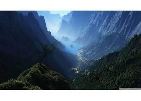 地球,山谷,壁纸,