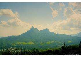 地球,山谷,山脉,山,夏天,耀眼的,阳光,壁纸,图片
