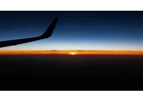 地球,日落,飞机,壁纸,图片