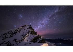 地球,山,山脉,夜晚,星星,壁纸,图片