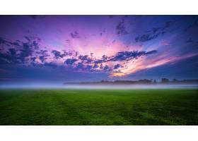 地球,领域,雾,风景,自然,日出,云,草,壁纸,图片