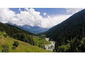 地球,风景,自然,河,森林,云,山,壁纸,图片