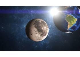 地球,从,空间,月球,行星,Sci,船方不负担装货费用,空间,壁纸,(1)图片