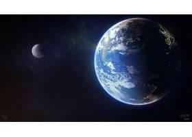 地球,从,空间,空间,行星,壁纸,图片