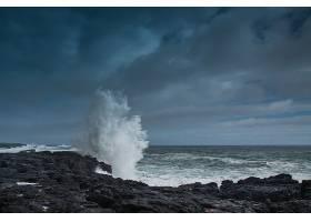 地球,波浪,海洋,岩石,地平线,自然,壁纸,图片