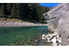 地球,湖,湖,自然,岩石,树,森林,壁纸,图片