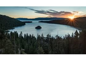地球,湖,湖,自然,日出,风景,阳光,壁纸,图片