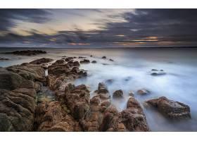 地球,海洋,自然,岩石,地平线,天空,云,壁纸,(2)图片