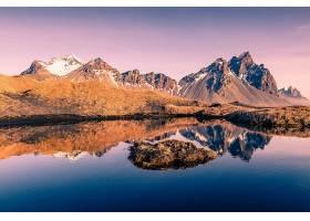 地球,反射,自然,湖,山,壁纸,(8)图片