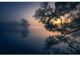 地球,雾,自然,反射,湖,日出,壁纸,图片