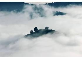 地球,雾,自然,小山,壁纸,图片
