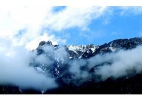 地球,山,山脉,天空,云,雾,自然,风景,壁纸,图片