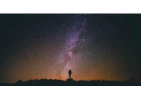 地球,天空,女孩,明星,布满星星的,天空,轮廓,壁纸,图片