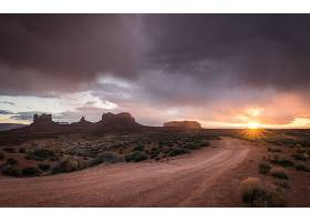 地球,纪念碑,山谷,自然,沙漠,风景,泥土,路,阳光,云,日出,犹他州,