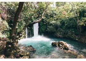 地球,瀑布,瀑布,自然,池塘,壁纸,图片