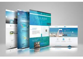 网页设计电脑展示图