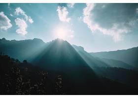 地球,阳光,自然,山,太阳,天空,云,风景,壁纸,图片