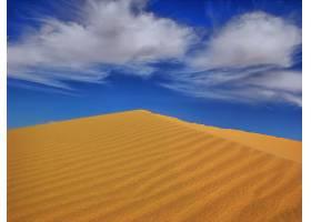 地球,沙漠,非洲,沙,沙丘,天空,蓝色,云,撒哈拉沙漠,风景,壁纸,