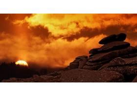地球,日落,自然,天空,橙色的,岩石,太阳,壁纸,图片