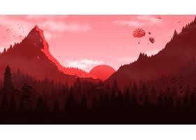地球,森林,日落,灯塔,跳伞运动,直升飞机,山,鸟,壁纸,图片