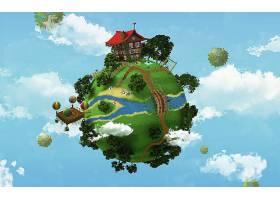 地球,A,轻柔的,世界,壁纸,(4)图片