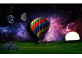 地球,A,轻柔的,世界,幻想,热的,天空,激增,领域,天空,行星,壁纸,图片