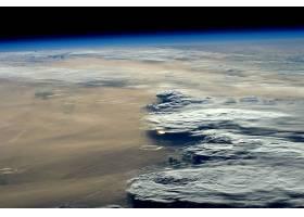 地球,从,空间,地平线,云,行星景观,壁纸,图片