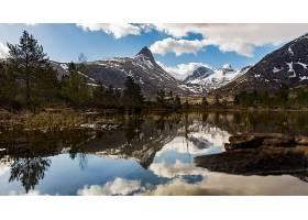 地球,反射,自然,湖,山,壁纸,(2)图片