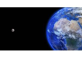 地球,从,空间,空间,行星,月球,壁纸,图片