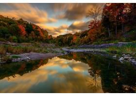 地球,河,秋天,树,森林,壁纸,图片