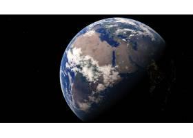 地球,从,空间,行星,非洲,壁纸,图片