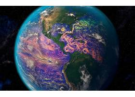 地球,从,空间,行星,风,壁纸,图片
