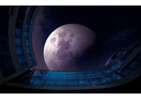 月球,天空,蓝色,壁纸,图片