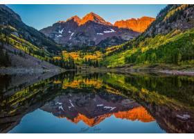 地球,褐红色,钟声,山脉,山,自然,反射,麋鹿,山脉,科罗拉多,山峰,图片