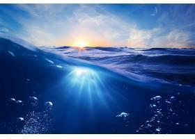 日落,自然,海洋,水,海,壁纸,图片