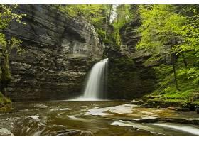 瀑布,瀑布,自然,岩石,悬崖,壁纸,(4)图片