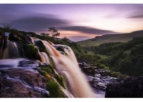 跳跃,关于,Fintry,瀑布,瀑布,跳跃,关于,Fintry,瀑布,河,壁纸,图片
