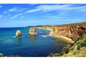 这,十二,倡导者,海岸线,岩石,海洋,海,澳大利亚,悬崖,地平线,维多图片