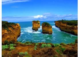这,十二,倡导者,海岸线,澳大利亚,海洋,海,岩石,壁纸,图片