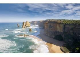 这,十二,倡导者,海岸线,自然,岩石,悬崖,地平线,澳大利亚,海洋,维图片