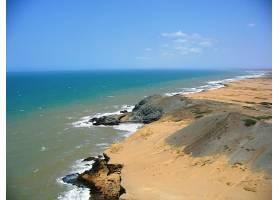披肩,自然,海岸,海,水,沙,地平线,壁纸,