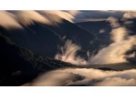 雾,自然,山,风景,壁纸,图片