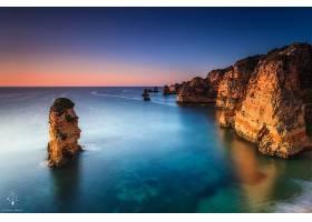 这,十二,倡导者,澳大利亚,海洋,海,岩石,地平线,壁纸,图片